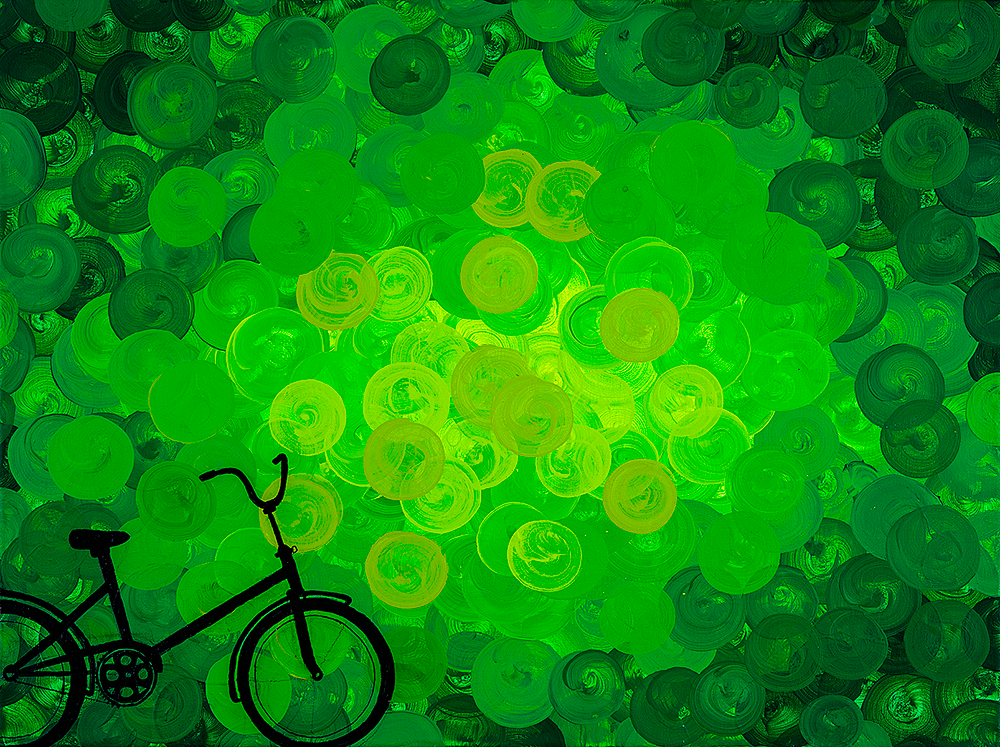 Bicycle on the Green
