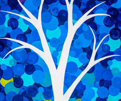 Bright Blue Tree