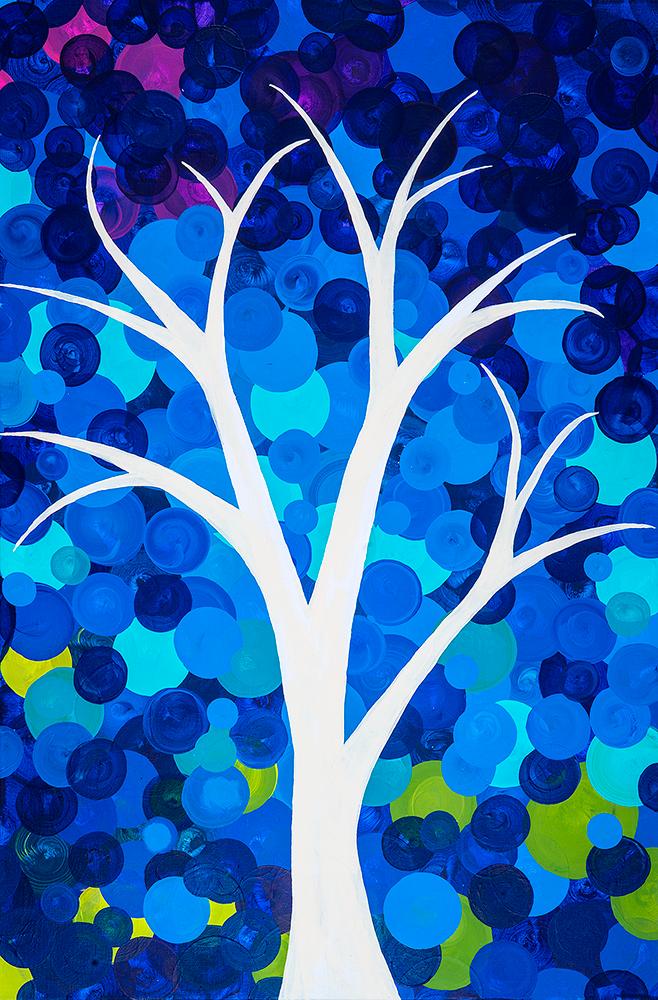 Bright Blue Tree
