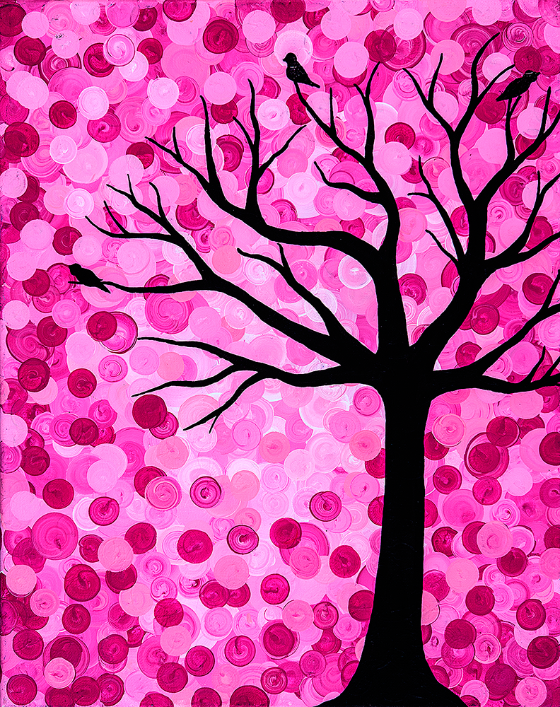 Family Tree in Pink